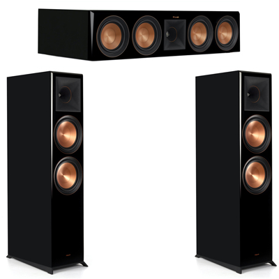 Klipsch 3.0 Piano Black System with 2 RP8000F, 1 RP504C