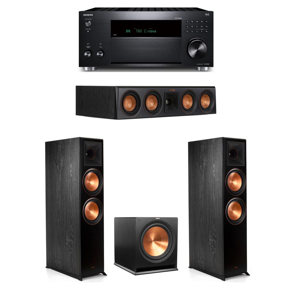 Klipsch 3.1 System with 2 RP-8000F, 1 RP-404C, 1 R-115SW,  1 Onkyo TX-RZ830 Receiver