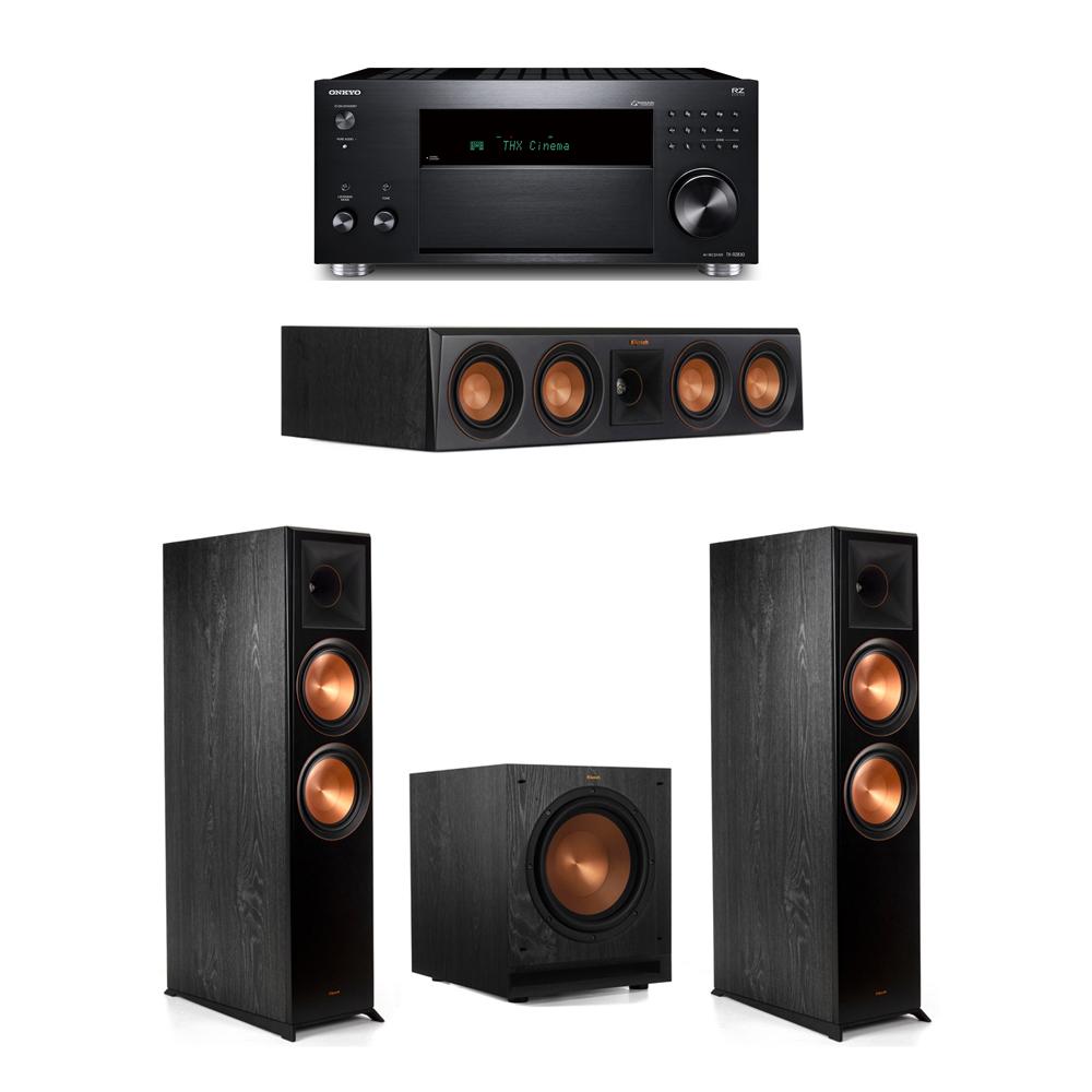Klipsch 3.1 System with 2 RP-8000F, 1 RP-404C, 1 SPL-100, 1 Onkyo TX-RZ830 Receiver