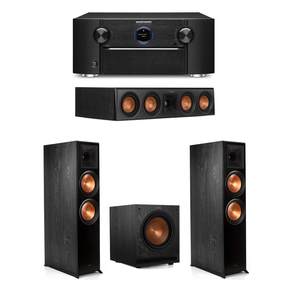 Klipsch 3.1 System with 2 RP-8000F Floorstanding Speakers, 1 Klipsch RP-404C Center Speaker, 1 Klipsch SPL-100 Subwoofer, 1 Marantz SR7012 A/V Receiver