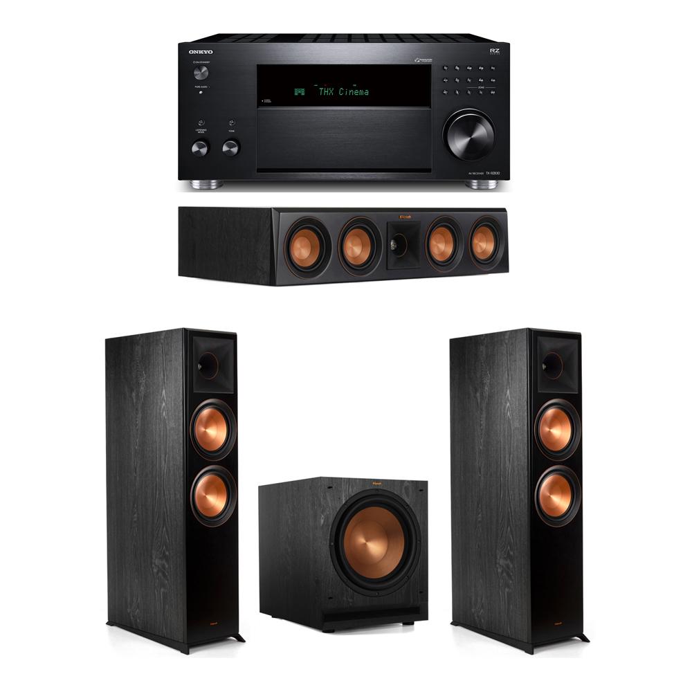 Klipsch 3.1 System with 2 RP-8000F, 1 RP-404C, 1 SPL-120, 1 Onkyo TX-RZ830 Receiver