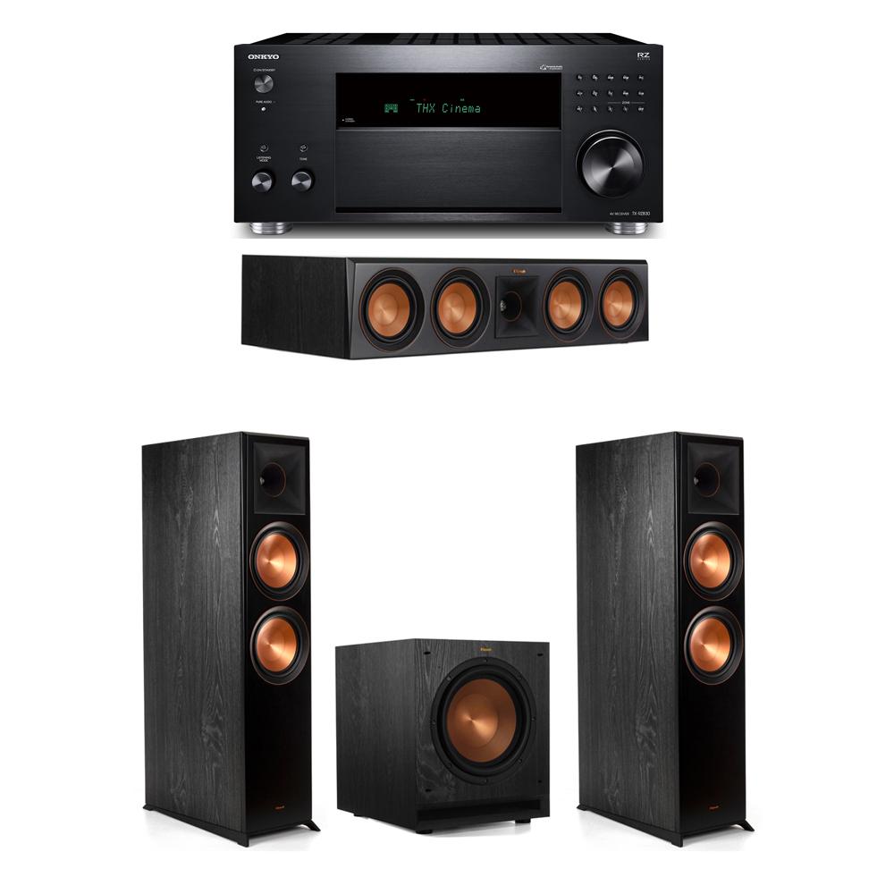 Klipsch 3.1 System with 2 RP-8000F,  1 RP-504C, 1 SPL-100, 1 Onkyo TX-RZ830 Receiver