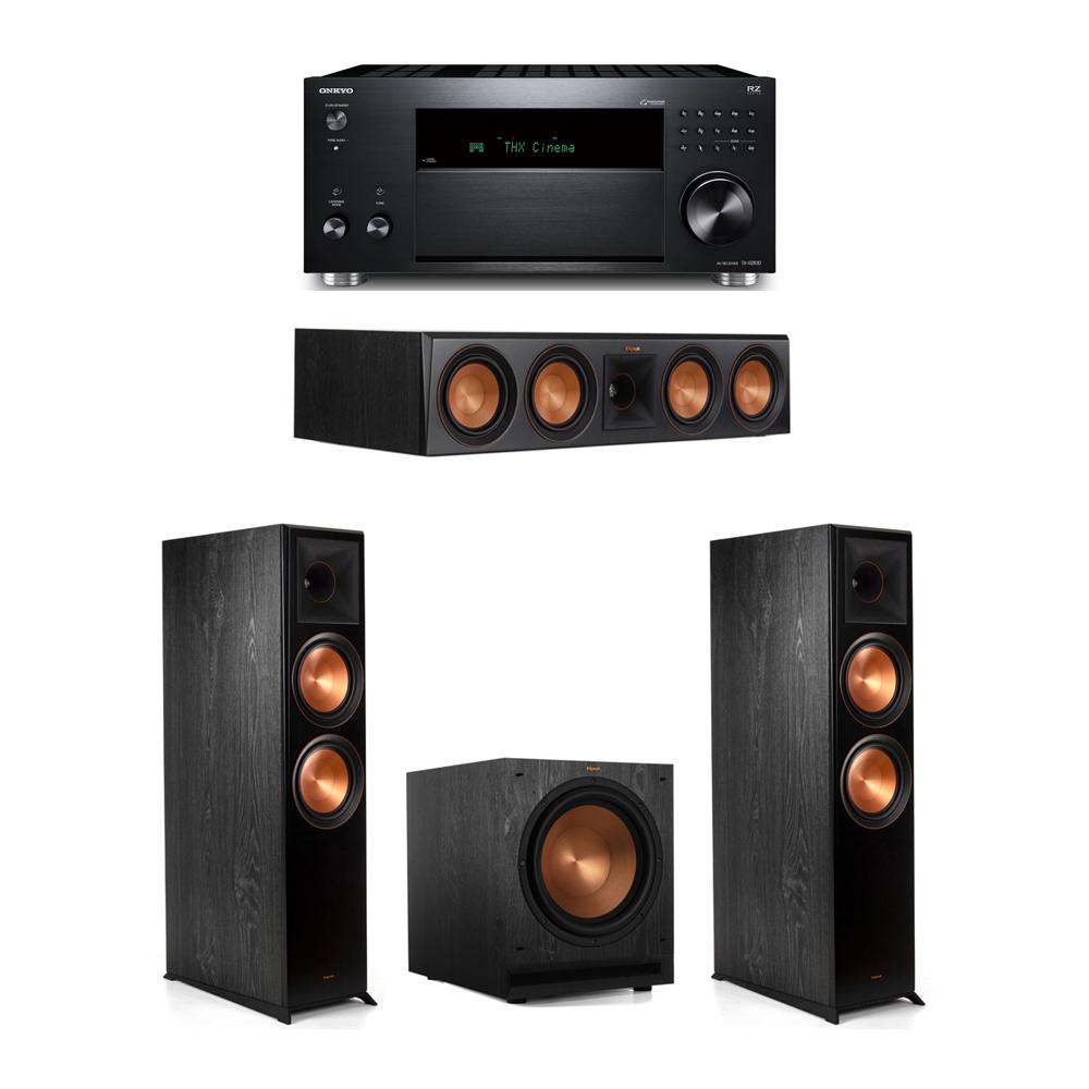 Klipsch 3.1 System with 2 RP-8000F,  1 RP-504C, 1 SPL-120, 1 Onkyo TX-RZ830 Receiver