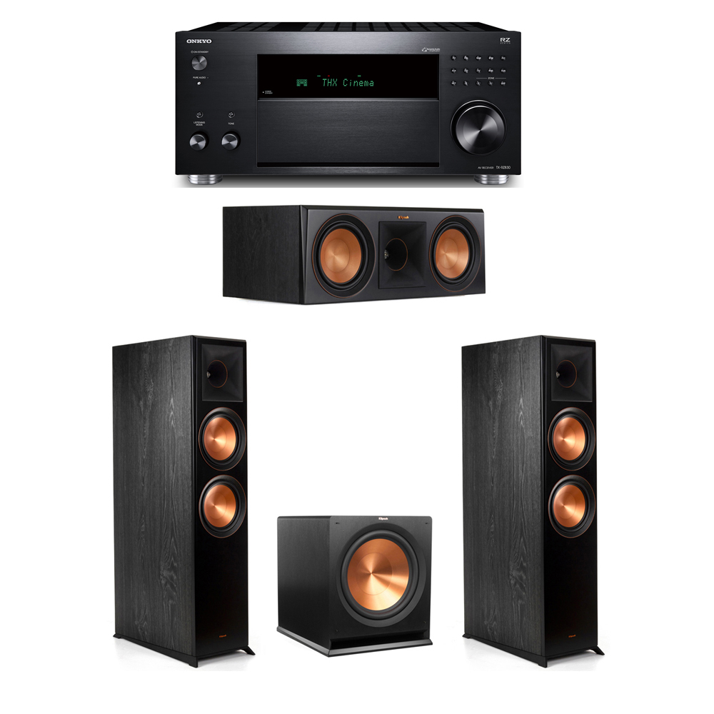 Klipsch 3.1 System with 2 RP-8000F, 1 RP-600C, 1 R-115SW,  1 Onkyo TX-RZ830 Receiver