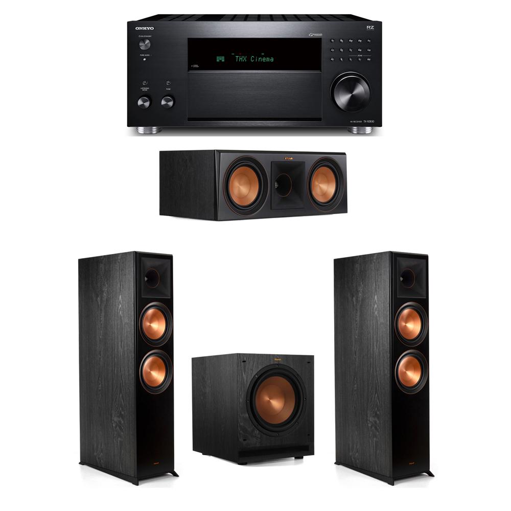 Klipsch 3.1 System with 2 RP-8000F, 1 RP-600C, 1 SPL-100, 1 Onkyo TX-RZ830 Receiver