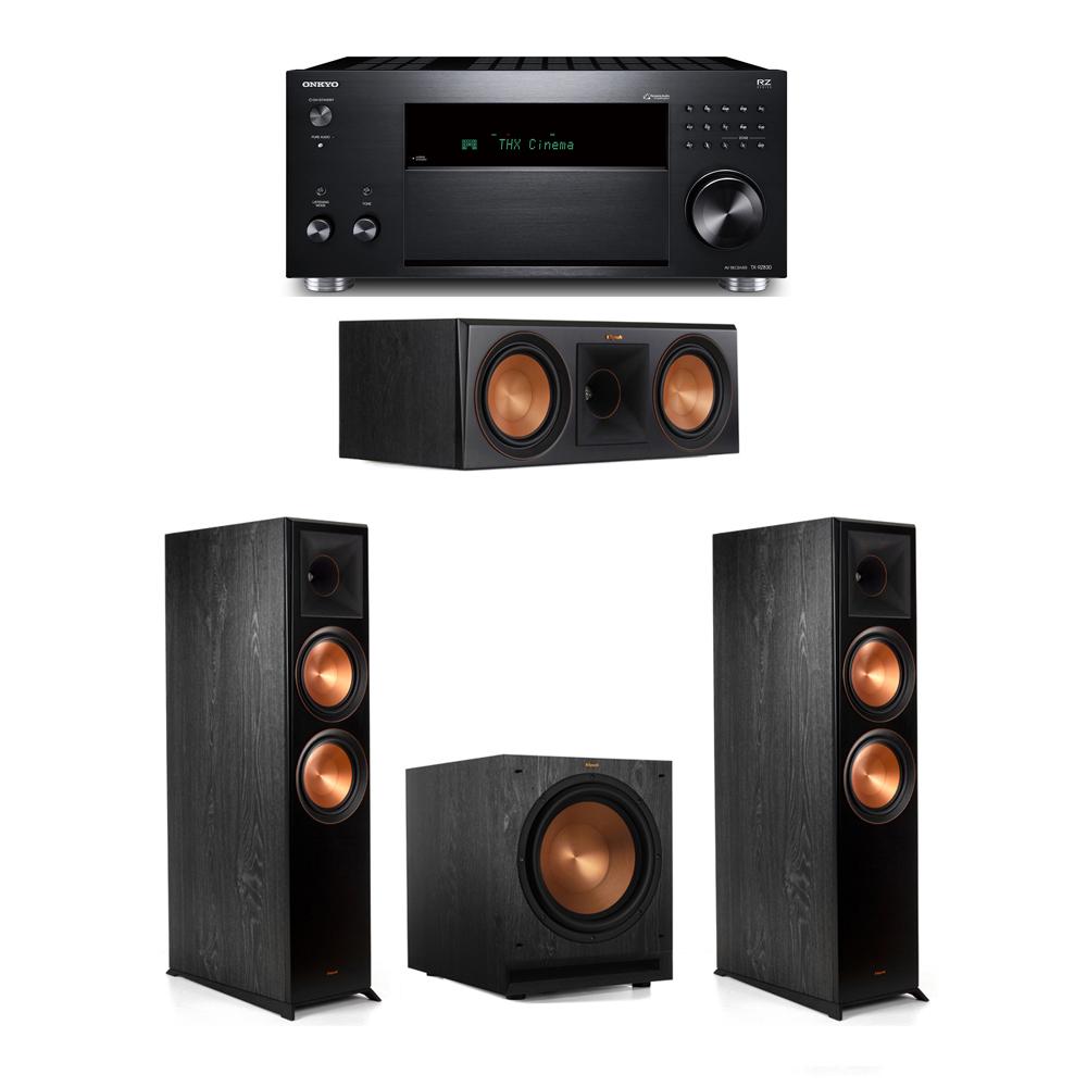 Klipsch 3.1 System with 2 RP-8000F, 1 RP-600C, 1 SPL-120, 1 Onkyo TX-RZ830 Receiver