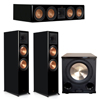 Klipsch 3.1 Piano Black System with 2 RP-8000F, 1 RP-504C, 1 PL-200II