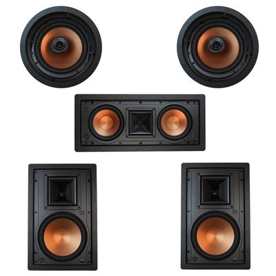 Klipsch 5.0 In-Wall System with 2 R-5800-W II In-Wall Speakers, 1 Klipsch R-5502-W II In-Wall Speaker, 2 Klipsch CDT-5800-C II