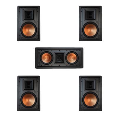 Klipsch 5.0 In-Wall System with 2 R-5800-W II In-Wall Speakers, 1 Klipsch R-5502-W II In-Wall Speaker, 2 Klipsch R-5800-W II In-Wall Speakers