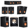 Klipsch 5.1.2 Ebony System with 2 RP600M, 1 RP404C, 2 RP502S, 2 RP500SA, 1 PL-200II
