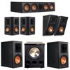 Klipsch 5.1.2 Ebony System with 2 RP600M, 1 RP504C, 2 RP502S, 2 RP500SA, 1 PL-300