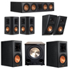 Klipsch 5.1.2 Ebony System with 2 RP600M, 1 RP504C, 2 RP502S, 2 RP500SA, 1 PL-200II