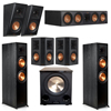 Klipsch 5.1.2 Ebony System with 2 RP8000F, 1 RP504C, 2 RP502S, 2 RP500SA, 1 PL-200II