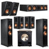 Klipsch 5.1.2 Ebony System with 2 RP8060FA, 1 RP504C, 2 RP502S, 2 RP500SA, 1 PL-200II