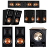 Klipsch 5.1.2 Piano Black System with 2 RP-600M, 1 RP-404C, 2 RP-502S, 2 RP-500SA, 1 PL-200II