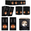 Klipsch 5.1.2 Piano Black System with 2 RP-600M, 1 RP-504C, 2 RP-502S, 2 RP-500SA, 1 PL-200II