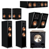 Klipsch 5.1.2 Piano Black System with 2 RP-8000F, 1 RP-504C, 2 RP-502S, 2 RP-500SA, 1 PL-200II