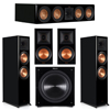 Klipsch 5.1 Piano Black System with 2 RP8000F, 1 RP504C, 2 RP600M, 1 C310ASWI