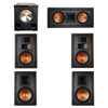 Klipsch 5.1 In-Wall System with 2 R-5800-W II In-Wall Speakers, 1 Klipsch R-5502-W II In-Wall Speaker, 2 Klipsch R-5650-S II In-Wall Speakers, 1 BIC/Acoustech Platinum Series PL-200 II Subwoofer