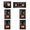 Klipsch 5.1 In-Wall System with 2 R-5800-W II In-Wall Speakers, 1 Klipsch R-5502-W II In-Wall Speaker, 2 Klipsch R-5650-S II In-Wall Speakers, 1 Klipsch R-112SW Subwoofer