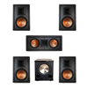 Klipsch 5.1 In-Wall System with 2 R-5800-W II In-Wall Speakers, 1 Klipsch R-5502-W II In-Wall Speaker, 2 R-5800-W II In-Wall Speakers, 1 BIC/Acoustech PL-200 II Subwoofer