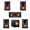 Klipsch 5.1 In-Wall System with 2 R-5800-W II In-Wall Speakers, 1 Klipsch R-5502-W II In-Wall Speaker, 2 R-5800-W II In-Wall Speakers, 1 Klipsch R-110SW Subwoofer