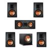 Klipsch 5.1 In-Wall System with 2 R-5800-W II In-Wall Speakers, 1 Klipsch R-5502-W II In-Wall Speaker, 2 R-5800-W II In-Wall Speakers, 1 Klipsch R-112SW Subwoofer