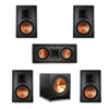 Klipsch 5.1 In-Wall System with 2 R-5800-W II In-Wall Speakers, 1 Klipsch R-5502-W II In-Wall Speaker, 2 R-5800-W II In-Wall Speakers, 1 Klipsch R-115SW Subwoofer