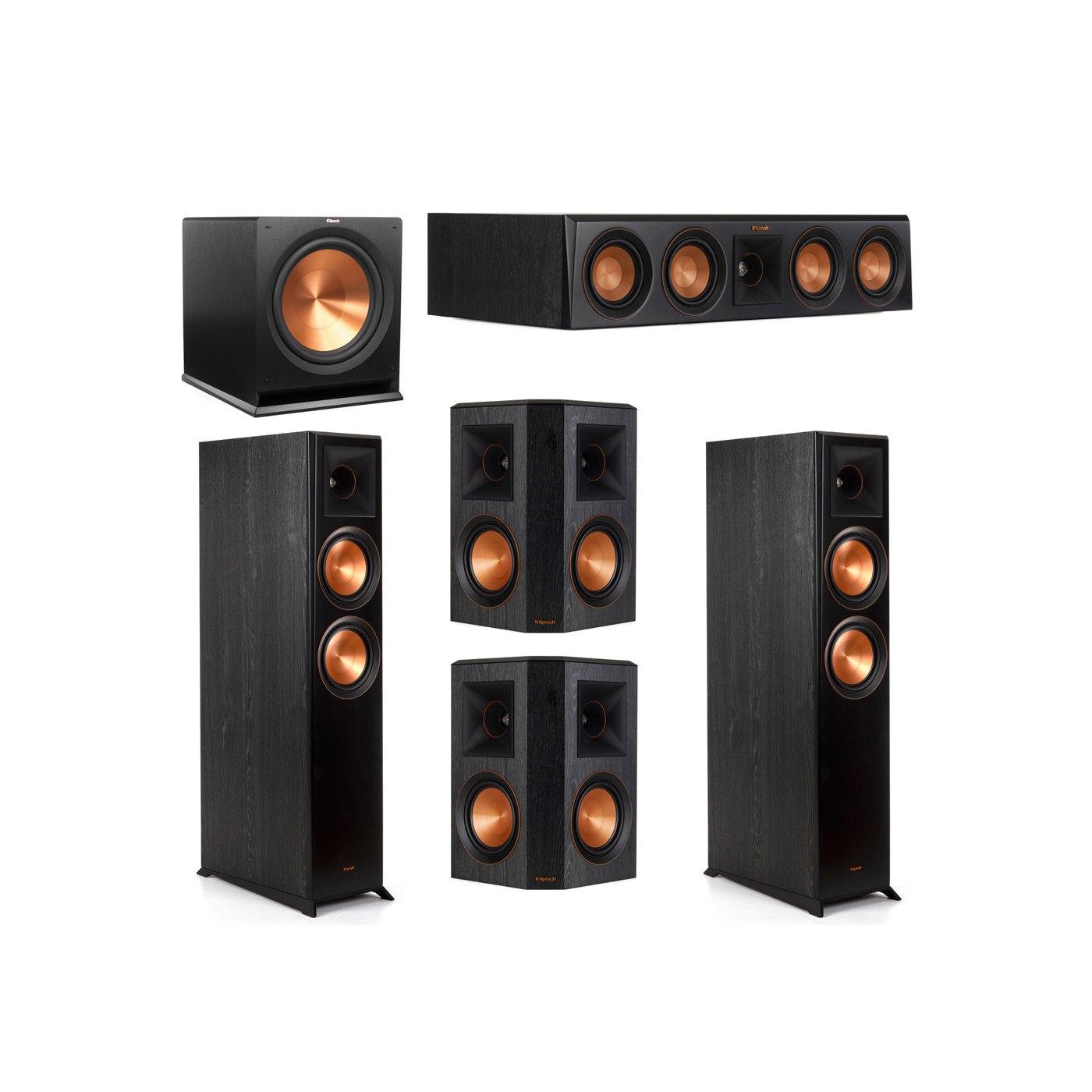 Klipsch 5.1 System with 2 RP-6000F Floorstanding Speakers, 1 Klipsch RP-404C Center Speaker, 2 Klipsch RP-502S Surround Speakers, 1 Klipsch R-115SW Subwoofer