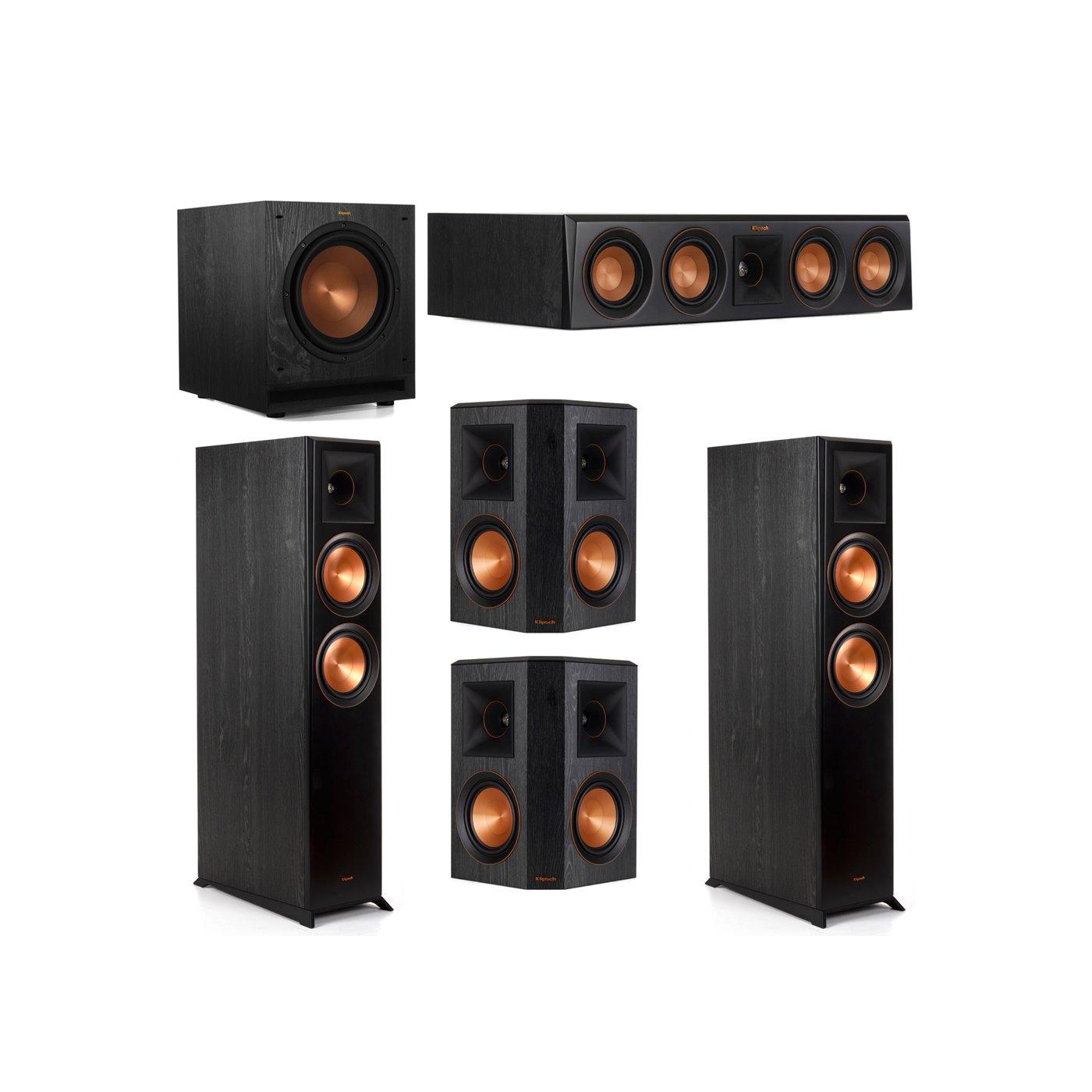 Klipsch 5.1 System with 2 RP-6000F Floorstanding Speakers, 1 Klipsch RP-404C Center Speaker, 2 Klipsch RP-502S Surround Speakers, 1 Klipsch SPL-100 Subwoofer