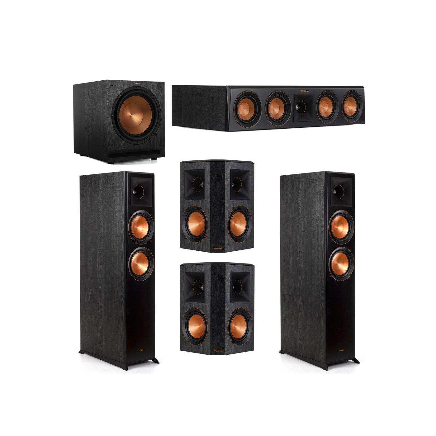 Klipsch 5.1 System with 2 RP-6000F Floorstanding Speakers, 1 Klipsch RP-404C Center Speaker, 2 Klipsch RP-502S Surround Speakers, 1 Klipsch SPL-120 Subwoofer