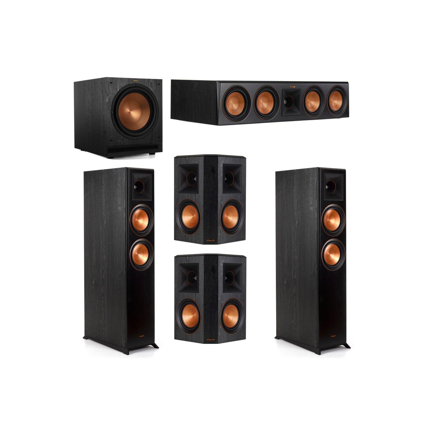 Klipsch 5.1 System with 2 RP-6000F Floorstanding Speakers, 1 Klipsch RP-504C Center Speaker, 2 Klipsch RP-502S Surround Speakers, 1 Klipsch SPL-120 Subwoofer