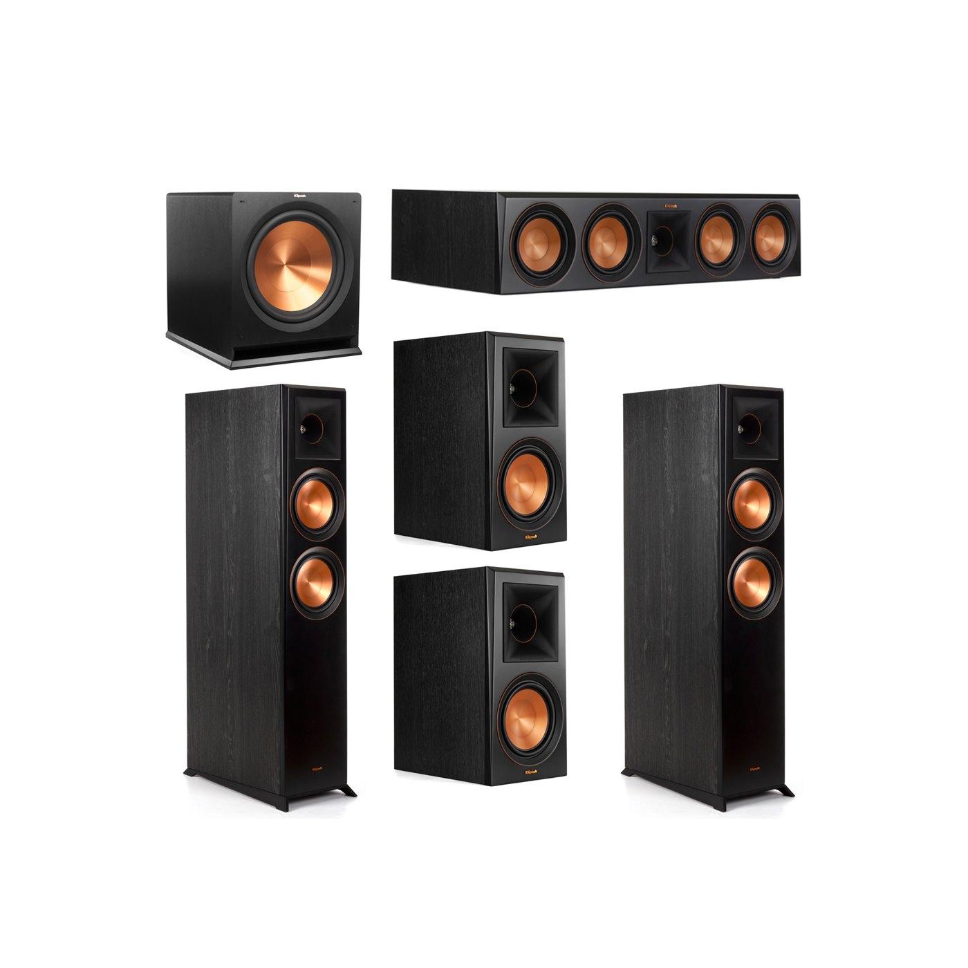 Klipsch 5.1 System with 2 RP-6000F Floorstanding Speakers, 1 Klipsch RP-504C Center Speaker, 2 Klipsch RP-600M Surround Speakers, 1 Klipsch R-115SW Subwoofer