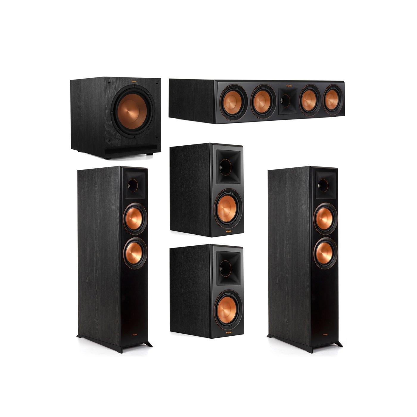 Klipsch 5.1 System with 2 RP-6000F Floorstanding Speakers, 1 Klipsch RP-504C Center Speaker, 2 Klipsch RP-600M Surround Speakers, 1 Klipsch SPL-100 Subwoofer