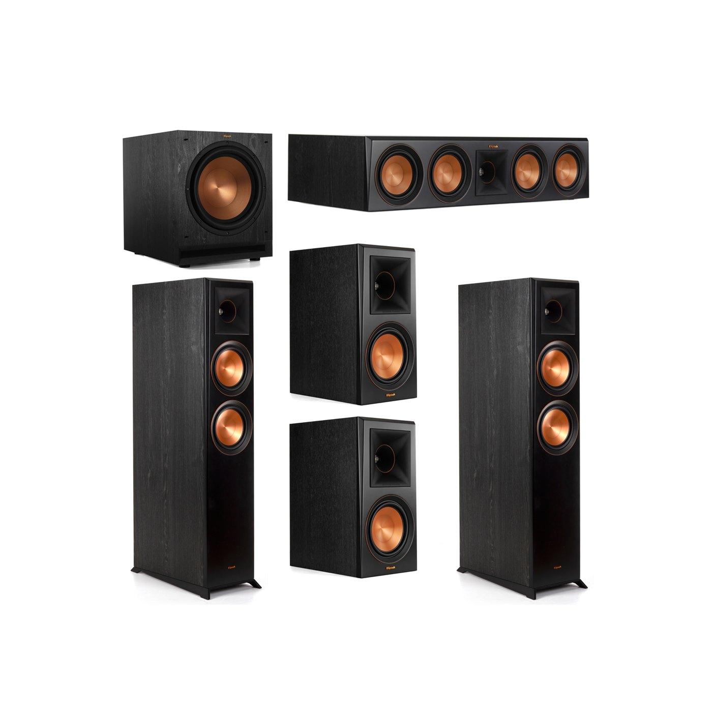Klipsch 5.1 System with 2 RP-6000F Floorstanding Speakers, 1 Klipsch RP-504C Center Speaker, 2 Klipsch RP-600M Surround Speakers, 1 Klipsch SPL-120 Subwoofer