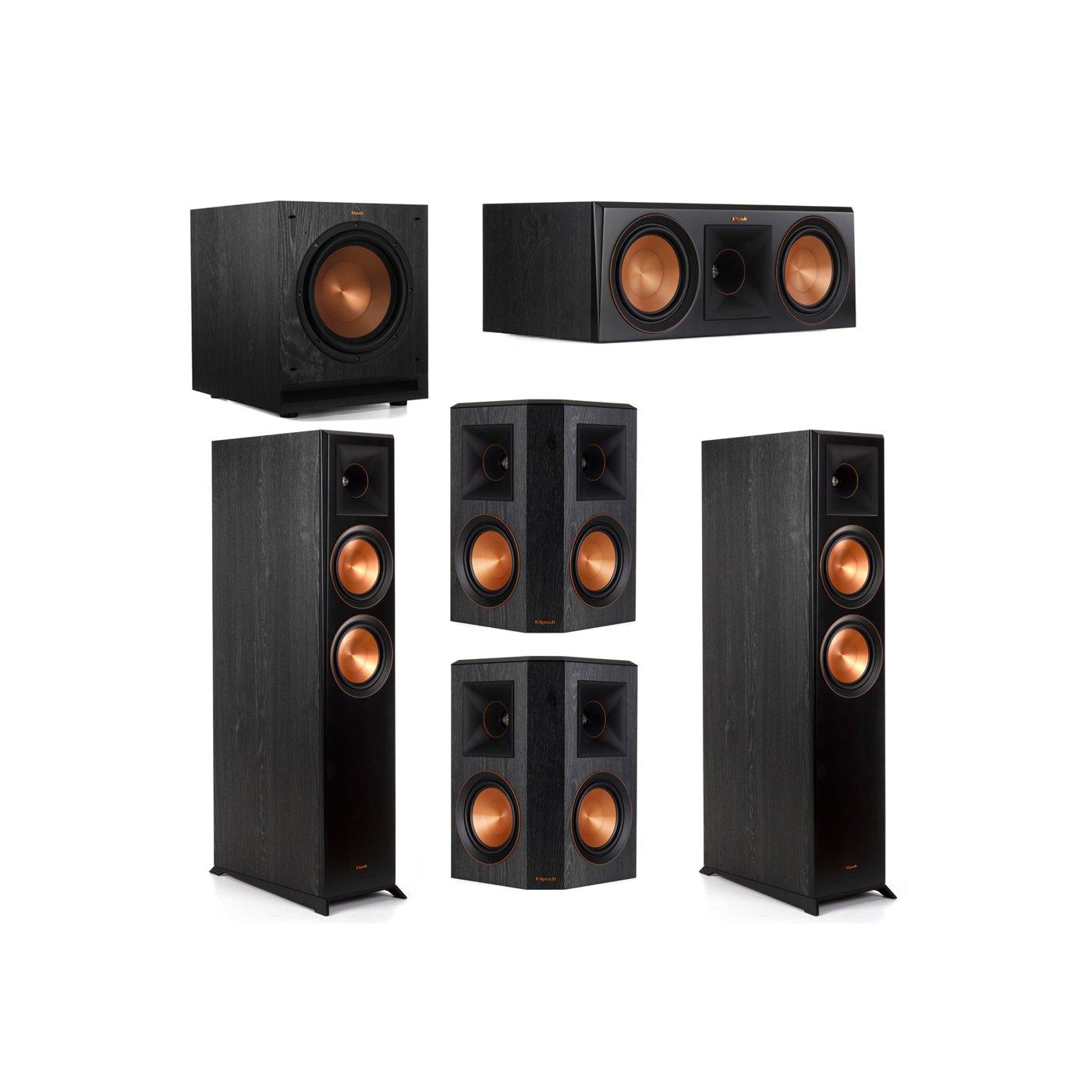 Klipsch 5.1 System with 2 RP-6000F Floorstanding Speakers, 1 Klipsch RP-600C Center Speaker, 2 Klipsch RP-502S Surround Speakers, 1 Klipsch SPL-100 Subwoofer
