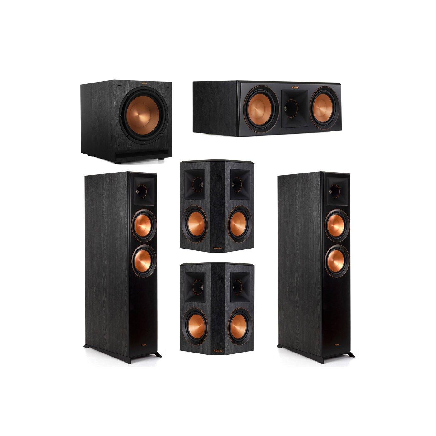 Klipsch 5.1 System with 2 RP-6000F Floorstanding Speakers, 1 Klipsch RP-600C Center Speaker, 2 Klipsch RP-502S Surround Speakers, 1 Klipsch SPL-120 Subwoofer