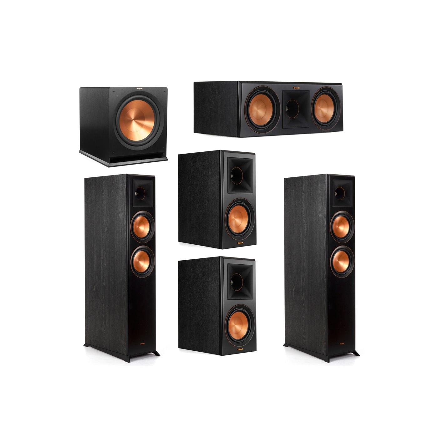 Klipsch 5.1 System with 2 RP-6000F Floorstanding Speakers, 1 Klipsch RP-600C Center Speaker, 2 Klipsch RP-600M Surround Speakers, 1 Klipsch R-115SW Subwoofer