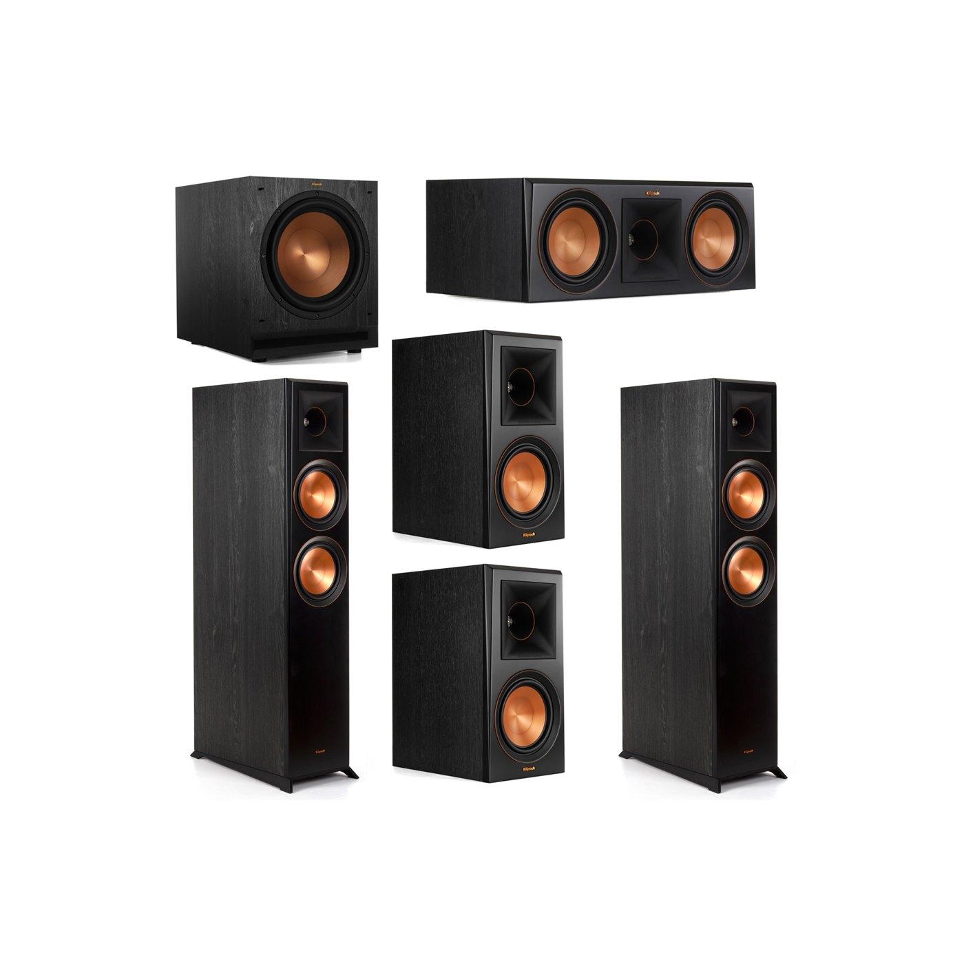 Klipsch 5.1 System with 2 RP-6000F Floorstanding Speakers, 1 Klipsch RP-600C Center Speaker, 2 Klipsch RP-600M Surround Speakers, 1 Klipsch SPL-120 Subwoofer