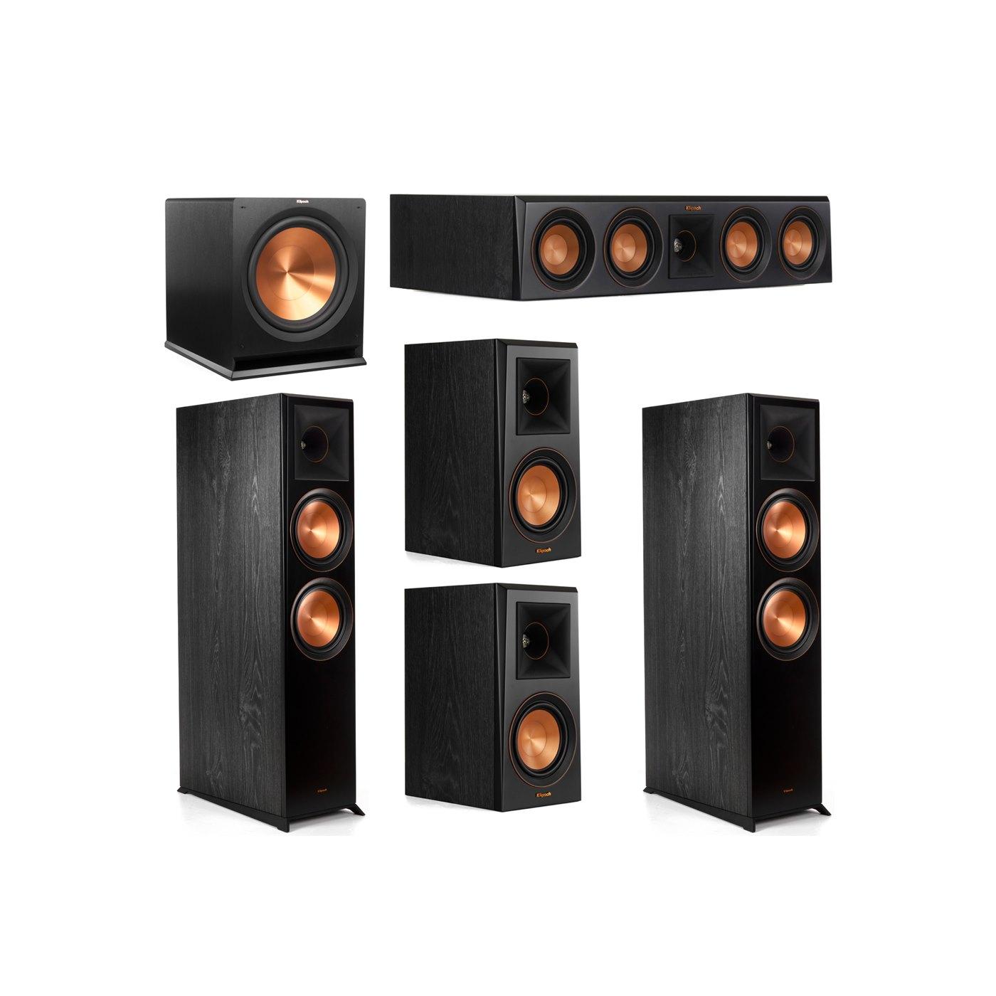 Klipsch 5.1 System with 2 RP-8000F Floorstanding Speakers, 1 Klipsch RP-404C Center Speaker, 2 Klipsch RP-500M Surround Speakers, 1 Klipsch R-115SW Subwoofer