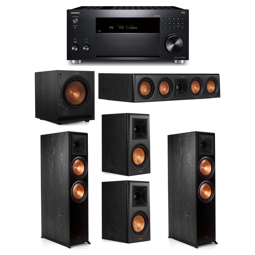 Klipsch 5.1 System with 2 RP-8000F, 1 RP-404C, 2 RP-500M, 1 SPL-100, 1 Onkyo TX-RZ830 Receiver