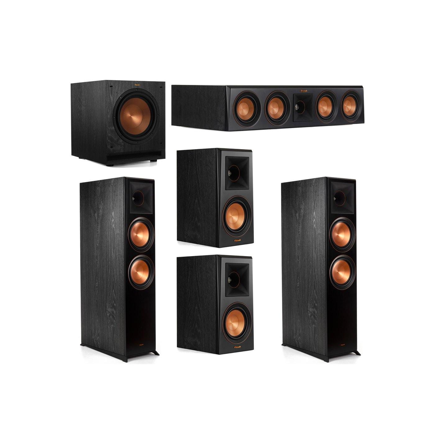 Klipsch 5.1 System with 2 RP-8000F Floorstanding Speakers, 1 Klipsch RP-404C Center Speaker, 2 Klipsch RP-500M Surround Speakers, 1 Klipsch SPL-100 Subwoofer