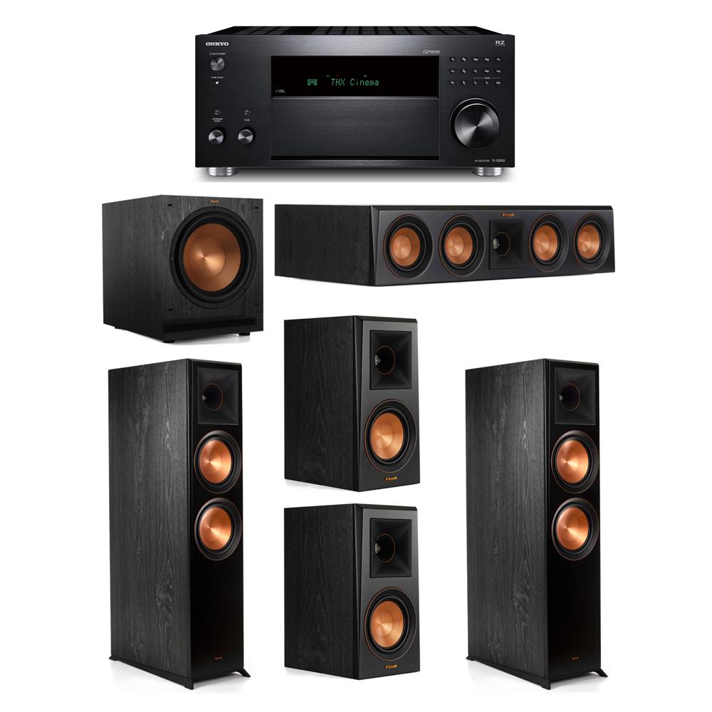 Klipsch 5.1 System with 2 RP-8000F, 1 RP-404C, 2 RP-500M, 1 SPL-120, 1 Onkyo TX-RZ830 Receiver