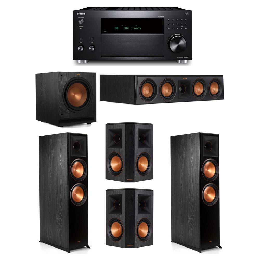 Klipsch 5.1 System with 2 RP-8000F, 1 RP-404C, 2 RP-502S, 1 SPL-100, 1 Onkyo TX-RZ830 Receiver