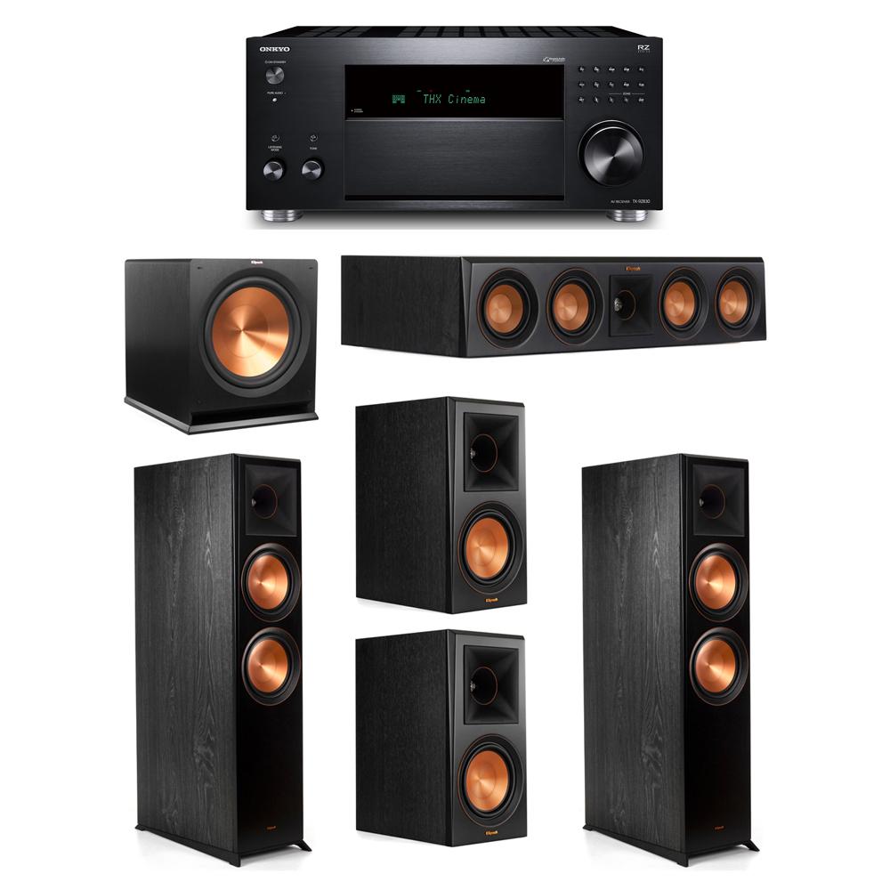 Klipsch 5.1 System with 2 RP-8000F, 1 RP-404C, 2 RP-600M, 1 R-115SW,  1 Onkyo TX-RZ830 Receiver