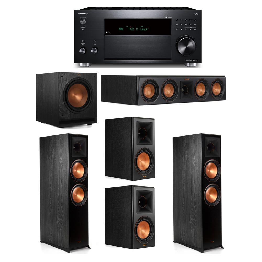 Klipsch 5.1 System with 2 RP-8000F, 1 RP-404C, 2 RP-600M, 1 SPL-100, 1 Onkyo TX-RZ830 Receiver