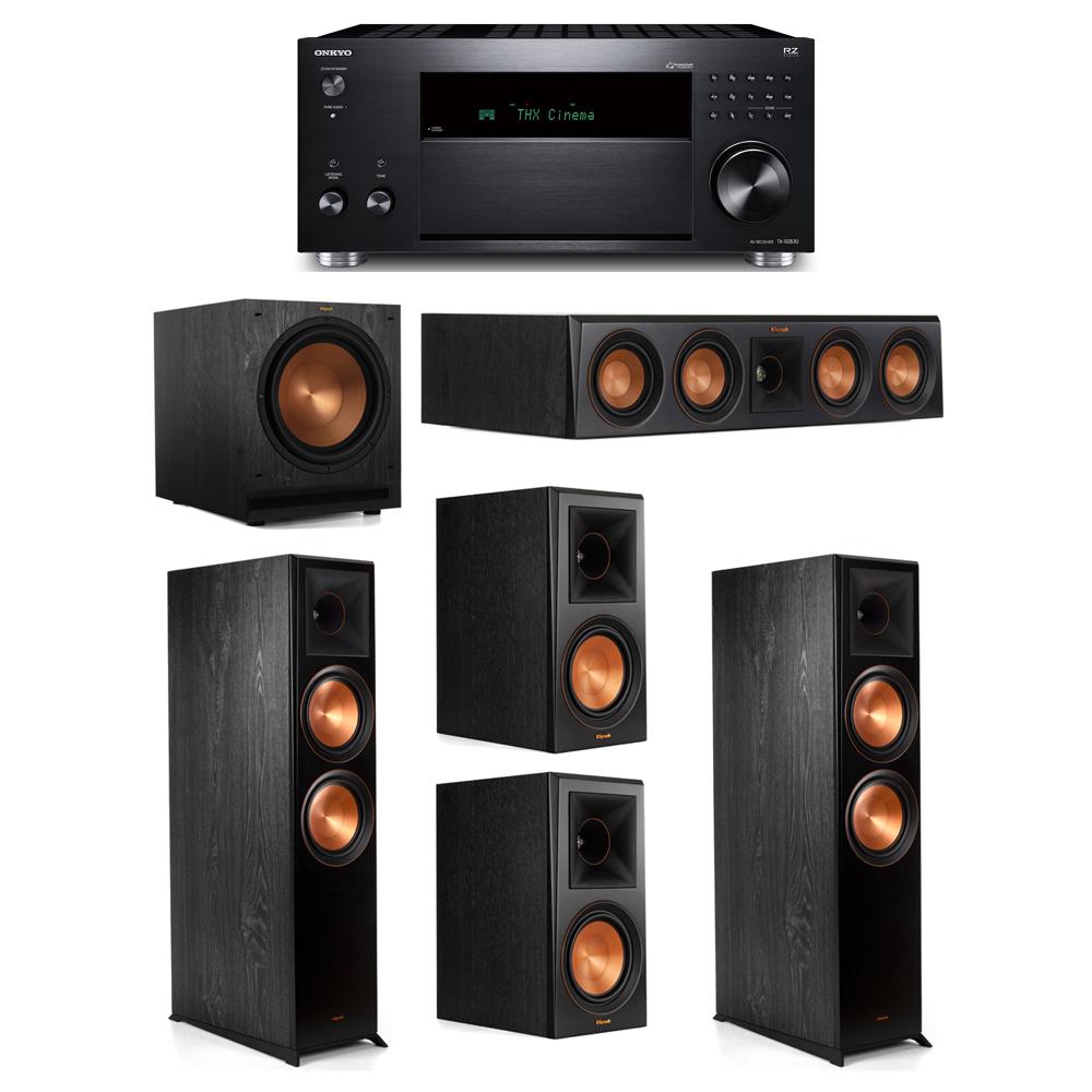 Klipsch 5.1 System with 2 RP-8000F, 1 RP-404C, 2 RP-600M, 1 SPL-120, 1 Onkyo TX-RZ830 Receiver