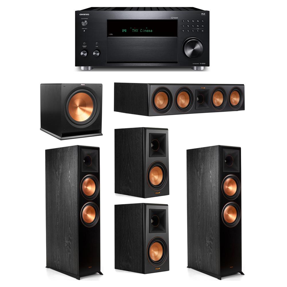 Klipsch 5.1 System with 2 RP-8000F,  1 RP-504C, 2 RP-500M, 1 R-115SW,  1 Onkyo TX-RZ830 Receiver