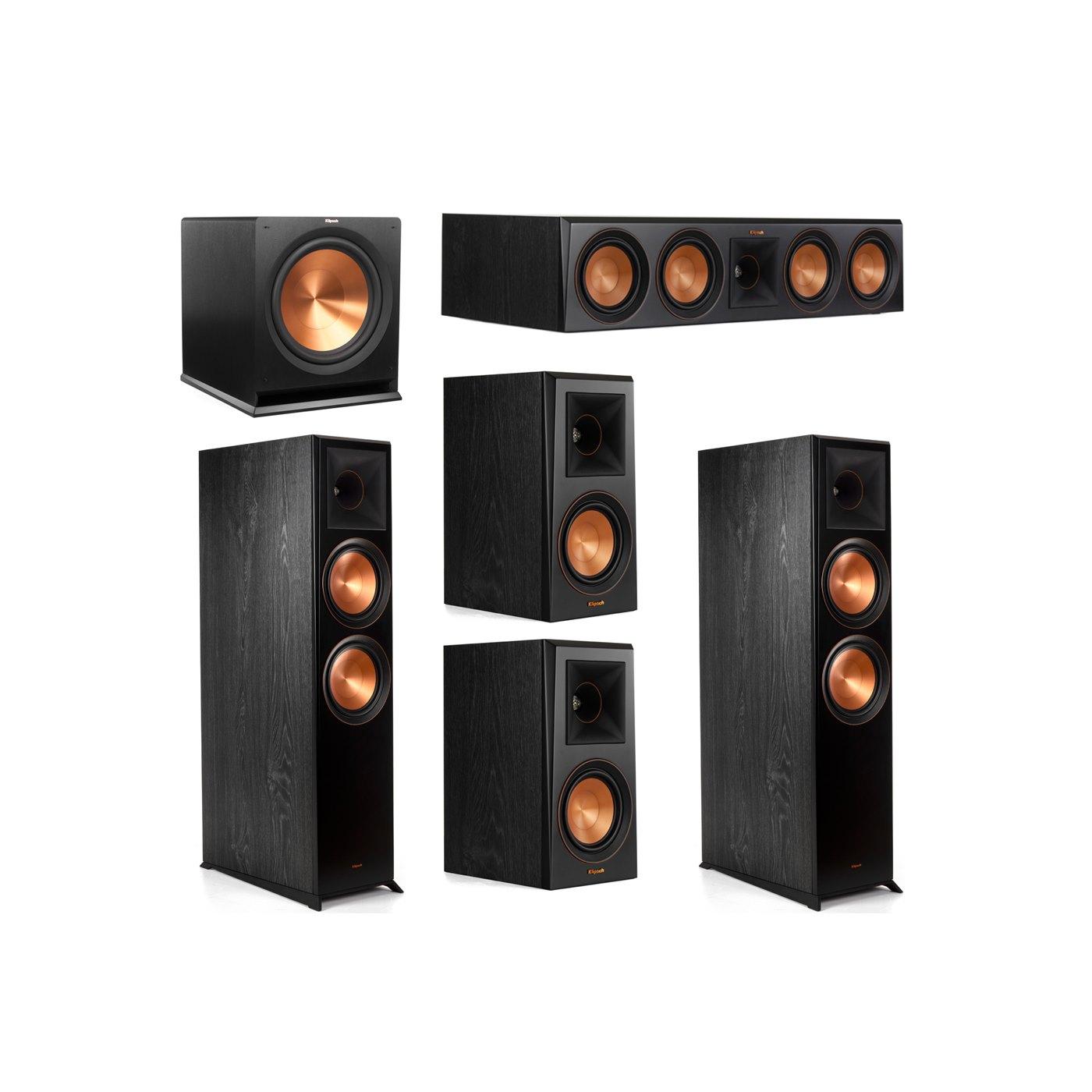 Klipsch 5.1 System with 2 RP-8000F Floorstanding Speakers, 1 Klipsch RP-504C Center Speaker, 2 Klipsch RP-500M Surround Speakers, 1 Klipsch R-115SW Subwoofer