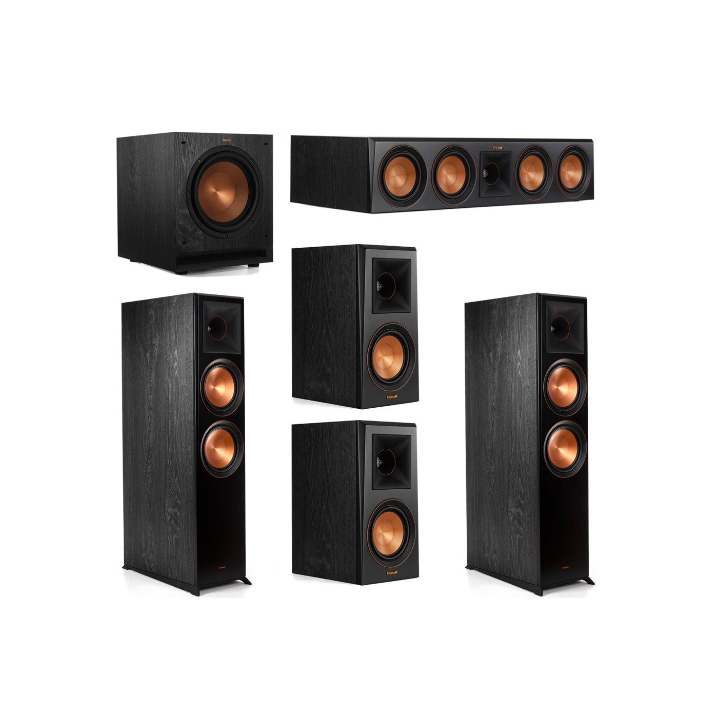 Klipsch 5.1 System with 2 RP-8000F Floorstanding Speakers, 1 Klipsch RP-504C Center Speaker, 2 Klipsch RP-500M Surround Speakers, 1 Klipsch SPL-100 Subwoofer